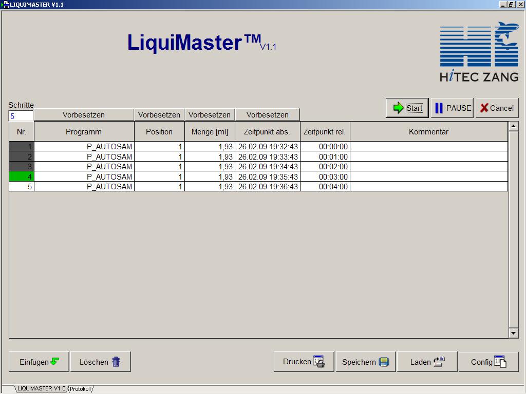 LiquiMaster™ - Liquid Handling Control Software   HiTec Zang GmbH